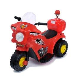 Электромобили - Электромобиль «Мотоцикл шерифа», цвет красный, 0