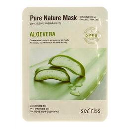 Маски - Тканевая маска для лица с экстрактом алоэ Secriss Pure Nature Mask Pack Aloe..., 0
