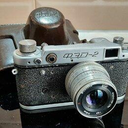 """Пленочные фотоаппараты - Фотоаппарат """"фэд-2"""" с объективом Индустар-26м, в футляре, 0"""