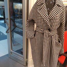 Пальто -  пальто гусиная лапка,стиль ШАНЕЛЬ, 0