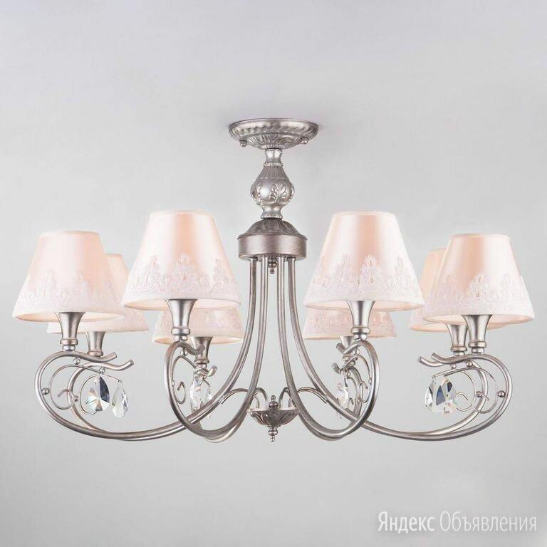 Потолочная люстра Eurosvet Incanto 60069/8 серебро по цене 18800₽ - Люстры и потолочные светильники, фото 0