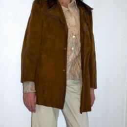Пиджаки - Импортный  из натуральной замши пиджак  р.46 Европа, 0