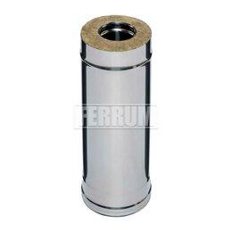 Дымоходы - Сэндвич 0,5м (430/0,8мм + нерж.) D 115х200 Ferrum, 0