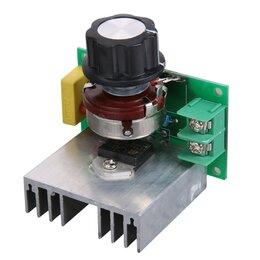 Электроустановочные изделия - Диммер 220 Вольт 3800 Ватт (симисторный регулятор мощности напряжения) StepDown, 0