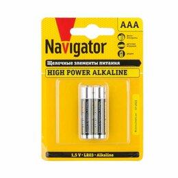 Батарейки - Элемент питания ААА LR03 1,5V (блистер 2шт) Navigator, 0