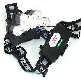 Фонари - Налобный светодиодный фонарь 7LED с зарядкой от USB (2x18650 батареи), 0