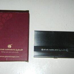 Визитницы и кредитницы - Визитница Qatar Airways .Новая, металл, 0