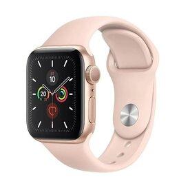 Умные часы и браслеты - Apple Watch Series 5 (GPS Only, 44mm, Gold Aluminum, Pink Sand Sport Band) MWVE2, 0