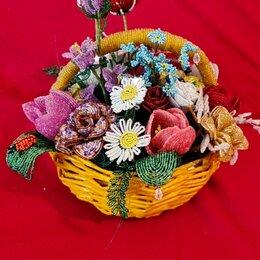 Цветы, букеты, композиции - Бисерные цветы в корзинках, 0