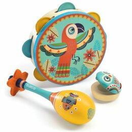 Детские наборы инструментов - Набор музыкальных инструментов (маракас, кастаньет, бубен), 0