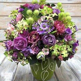 Цветы, букеты, композиции -  Интерьерная композиция из искусственных цветов, 0