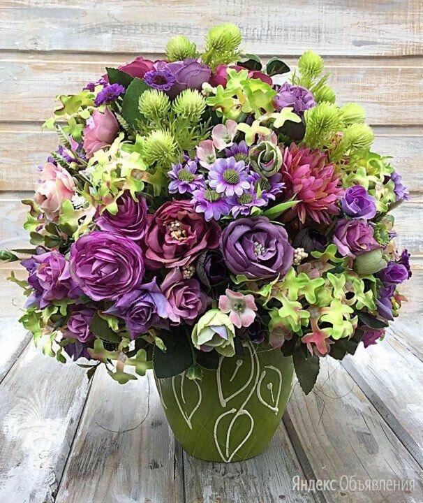 Интерьерная композиция из искусственных цветов по цене 2500₽ - Цветы, букеты, композиции, фото 0