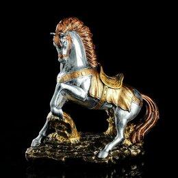 """Киндер-сюрприз - Premium Gips Сувенир """"Конь на дыбах"""", серебристый цвет, 37 см, микс, 0"""