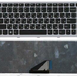 Клавиатуры - Клавиатура для Lenovo IdeaPad U310 черная с серебристой рамкой, 0