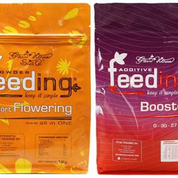 Комнатные растения - Набор сухих удобрений Powder Feeding Short Flowering 125 гр, 0