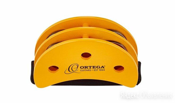 Ortega OGFT тамбурин на ногу, полумесяц, 4 пары стальных бубенцов по цене 1490₽ - Ударные установки и инструменты, фото 0