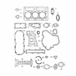 Двигатель и комплектующие - Полный комплект прокладок для дизельного двигателя Д2500 Балканкар, 0