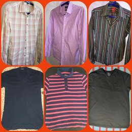 Рубашки - 🔥Мужские фирменные рубашки и летние футболки поло, р. 44/46/48, 0