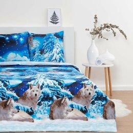 Кровати - Постельное бельё Евро Традиция «Волки» 200х217 см, 220х240 см, 70х70 см-2шт, ..., 0