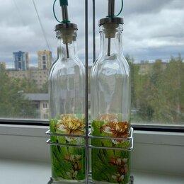 Бутылки - Набор бутылок для масла и уксуса на подставке  стекло, 0