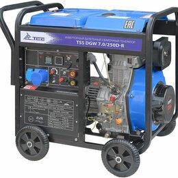 Электрогенераторы и станции - Инверторный дизельный сварочный генератор TSS DGW 7.0/250D-R, 0