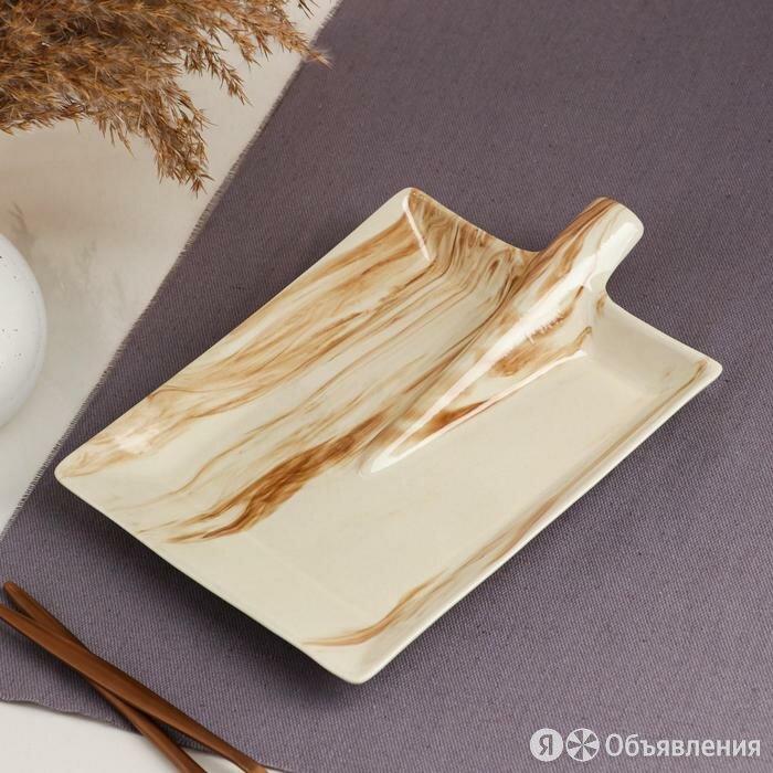 Блюдо для подачи 'Лопата', под мрамор, 24.5 см по цене 486₽ - Блюда, салатники и соусники, фото 0