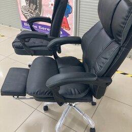 Компьютерные кресла - Офисное кожаное кресло руководителя , 0