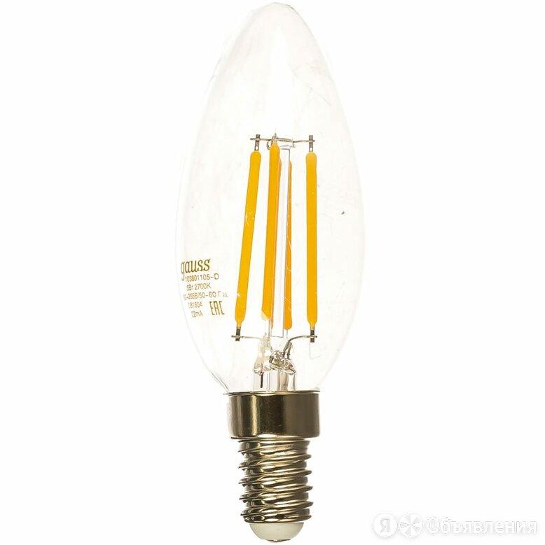 Лампа Gauss LED Filament Свеча dimmable по цене 259₽ - Интерьерная подсветка, фото 0