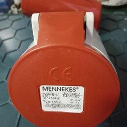 Электроустановочные изделия - Розетка панельная mennekes 32A  ip44, 0
