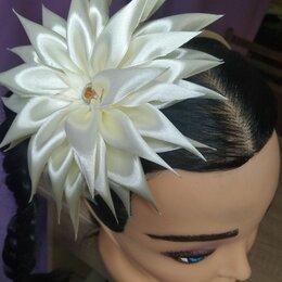 """Украшения для девочек - украшение на голову из атласных лент ободок """"астра"""", 0"""