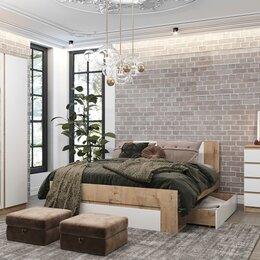Кровати - Спальный гарнитур Марли дуб бунратти/белый глянец, 0
