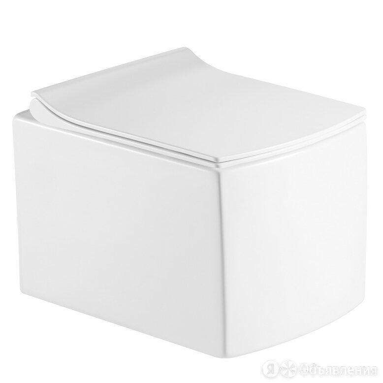 Унитаз подвесной безободковый Calypso CS48EP с сиденьем Soft Close (микролифт) по цене 14722₽ - Унитазы, писсуары, биде, фото 0