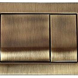 Унитазы, писсуары, биде - Клавиша смыва Migliore METAL DUAL бронза, двойной смыв 163x243 металл ML.PLC-..., 0