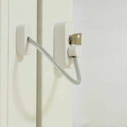 Ограничители и доводчики  - Блокиратор открывания створки elementis  с тросиком и ключом белый ral 9016, 0
