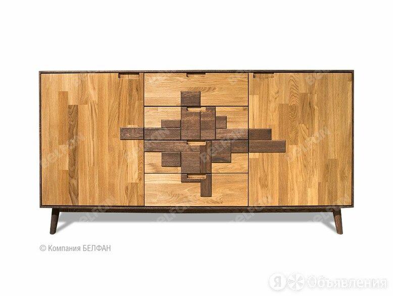 """Тумба """"Irving Design"""" 3; 2 двери, 4 ящика; графит, бейц-масло по цене 90144₽ - Шкафы, стенки, гарнитуры, фото 0"""