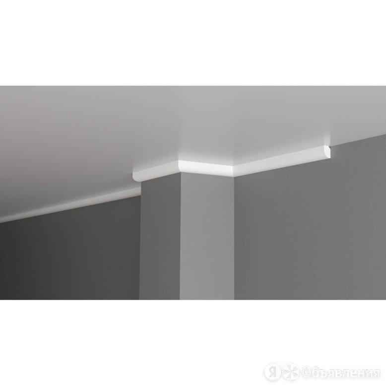 Ударопрочный влагостойкий потолочный карниз под покраску Decor-Dizayn DD02 по цене 209₽ - Карнизы и аксессуары для штор, фото 0