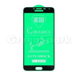 Защитные пленки и стекла - Защитное стекло керамическое для Samsung J400F Galaxy J4 (2018) (черный) (VIX..., 0