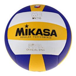 Мячи - Mikasa Мяч волейбольный Mikasa MV210, размер 5, PU, бутиловая камера, клееный, 0