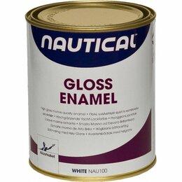 Эмали - Эмаль глянцевая, белая, 0,75 л, 0