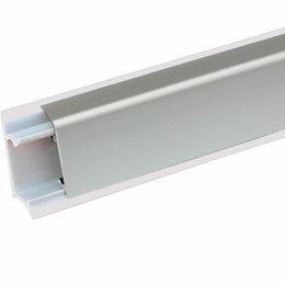 Плинтусы, пороги и комплектующие - Плинтус для кухни 3, 0м алюмин. КВАДРО серебро, 0