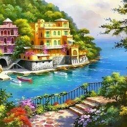 Рисование - Картина по номерам вилла на берегу озера, 0