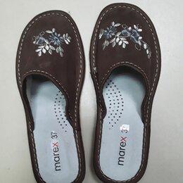 Домашняя обувь - Кожанные женские дышащие тапочки, 0