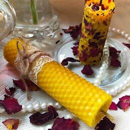 Декоративные свечи - Свечи из медовой вощины и флорентийское саше, 0