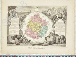 Картины, постеры, гобелены, панно - Антикварная карта XIX века.Левассер.Состояние.В…, 0