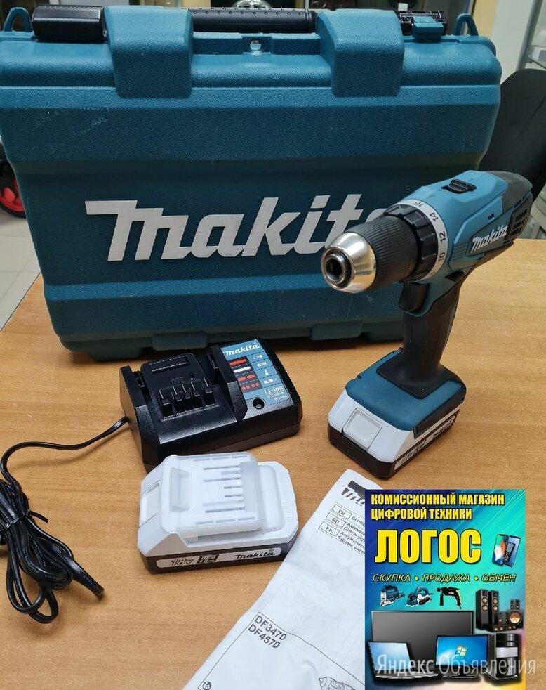 Аккумуляторная дрель-шуруповерт Makita DF457DWE по цене 7500₽ - Шуруповерты, фото 0