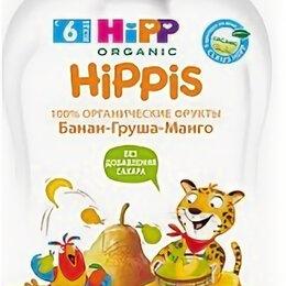 Детское питание - HIPPIS Пюре Фруктовое Банан Груша Манго {с 6 мес} 100г., 0