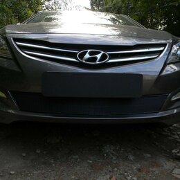 Одноразовая посуда - Защитная сетка радиатора Hyundai Solaris 2014- black Premium, 0