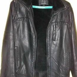 Куртки - Кожаная куртка zolla мужская, 0