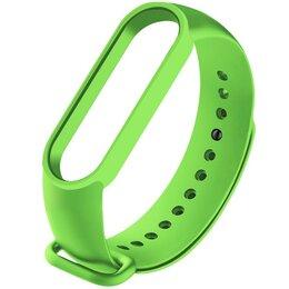 Ремешки для часов - Ремешок силиконовый для Mi Band 5 - зеленый, 0