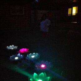Аксессуары для плавания - Кувшинки светящиеся плавающие для бассейнов фонтанов просто на дачу, 0